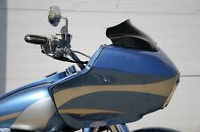 "KLOCK WERKS 8"" BLACK FLARE MOTORCYCLE WINDSHIELD FOR H-D FLTR ROAD GLIDE"