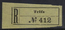 REGISTRATION LABEL AUSTRIA 1897...TELFS...MINT