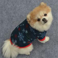 @Xmas Cat Winter Warm Pullover High-GradeT-Shirt Pet Puppy Dog Cute Clothes M