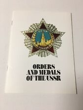 Book Orders And Medals Of The USSR