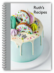 A5 PERSONALISED RECIPE PLANNER WRITE YOUR OWN RECIPES, HEALTHY RECIPE BOOK GIFT