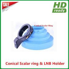 High quality Conical Scalar Ring & LNB Bracket C to Ku Band Kit FTA