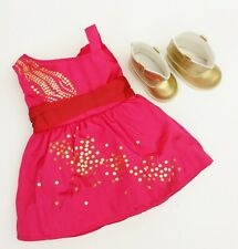 American Girl 2013 Saige's Sparkle Dress And Boots Used