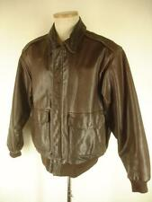 VTG Mens L sz 42 Banana Republic Safari & Travel Brown Leather A-2 Flight Jacket