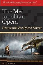 The Metropolitan Opera: Crosswords for Opera Lovers, Kahn, David J., Good Book