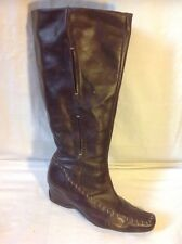 Essence Brown Knee High Leather Boots Size 40