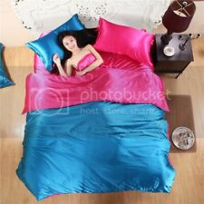 Awesome collection of Satin 7Pc. Reversible Duvet Set twin Xl HotPink&Royalblue