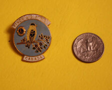 Vintage Lions Club Pin Pinback Finch District Ontario Canada Bird