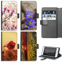 FLOWERS PHONE CASE IPHONE 6,7,8 PLUS, X LEATHER FLIP WALLET CASE COVER FOR APPLE