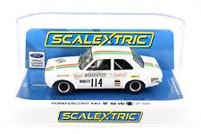 "Scalextric ""Castrol"" Ford Escort Mk1 DPR W/ Lights 1/32 Scale Slot Car C3924"