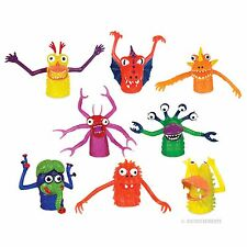 Set Of 8 Monster Finger Puppets For School Daycare Imaginary Play