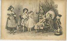 ANTIQUE VICTORIAN COSTUME DRESS UP PARTY KING FAIRY GREYHOUND PUPPY DOG PRINT