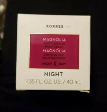 New Unsealed Korres Magnolia First Wrinkles night cream 1.35 FL oz