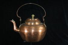 A large antique Dutch copper (appelketel) kettle (1800-1850)