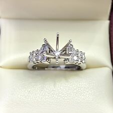 0.50ct Diamond Semi Mount Engagement Ring in 18k White Gold
