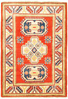 """Vintage Hand-Knotted Carpet 2'8"""" x 4'0"""" Traditional Oriental Wool Area Rug"""