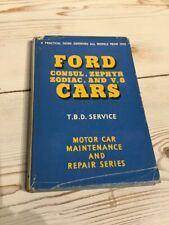 Ford Cars Consul Zephyr Zodiac Mk I & II V8 1935-62 Pearson Owners Handbook 1967