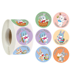 500 Pcs Round Animal Sticker Label Gift Seal Stickers Easter Party Decoration
