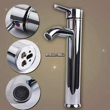 "Stainless Steel 12"" Tall Bathroom Vessel Sink Faucet - One Hole / Handle Taps US"