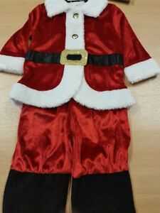 Children's Father Christmas with Hat Fancy Dress Costume Aged 6-9 Months