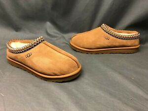 UGG Men's Tasman Slippers Suede Upper Wool Lining Slip-On Chestnut Size 13 NEW!