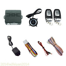 Car Security System Vibration Alarm Ignition Engine Start Push Button Remote D7