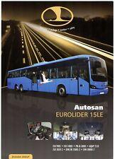 Autosan Eurolider 15LE Intercity Bus 2011-12 UK Market Single Sheet Brochure