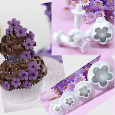 Christmas Decorating 4Pcs/Set Plum Flower Cutter Cake Cookie Decorating Tools