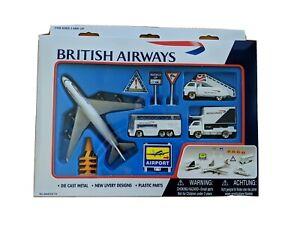 British Airways BA Airport Play Set & Boeing 747 Die Cast Metal Plane Jumbo Jet