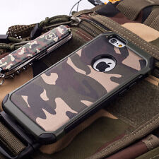 Hybrid Army Camouflage Shockproof Hard Back Case Cover For iPhone 5 6 6s 7 7Plus
