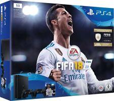 PlayStation 4 - Konsole (1TB, slim) inkl. FIFA 18 + 2 DualShock Controller