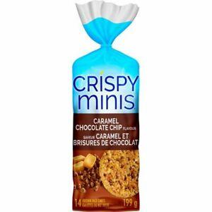 6X Quaker Crispy Minis Gluten-Free Caramel Chocolate Chip Rice Cakes 199g FRESH!