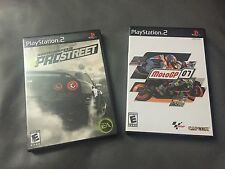 PLAY STATION 2 GAMES NEED FOR SPEED PRO STREET & MOTO GP 07.