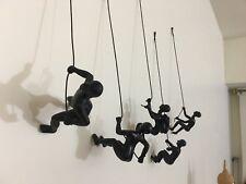 5 Piece Climbing Sculpture Wall Art Gift For Home Decor Interior Position black