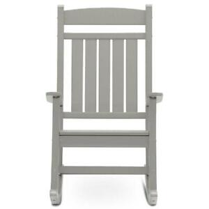 DUROGREEN Outdoor Rocking Chair Gray Plastic Weather Resistant UV Protected