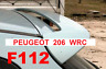 SPOILER PEUGEOT 206 ALETTONE POSTERIORE DA TETTO WRC LOOK