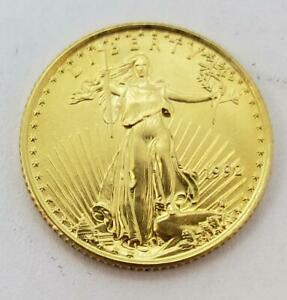 1992 US 1/10th ozt $5 GOLD Eagle BU+ better date L10031