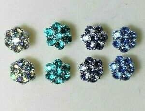 Sterling Silver Stud earrings - made with Swarovski Crystals - colour choice