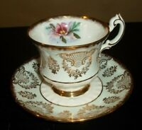 Paragon Fine Bone China Gold Design with Pink Orchid Tea Cup & Saucer   England