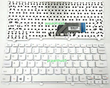 Original New Lenovo Ideapad 100S-11IBY Laptop Keyboard US White Without Frame