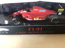 Ferrari F1 91 - F1 Car Jean Alesi 1991 Monaco GP- Hotwheels Elite 1/43