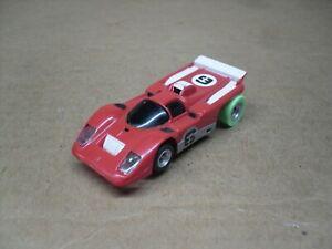 Backwoods Junkyard AURORA AFX #1799 red #6 FERRARI 512-M w/AW HO Slotcar Chassis