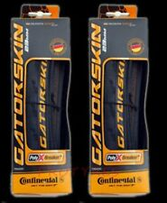 2 NEW 2017 CONTINENTAL GATORSKIN GATOR TIRES 700x23c FOLDING set pair 23mm 700c