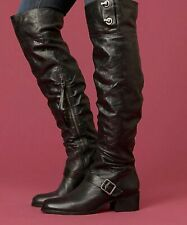 Victorina Over The Knee Boot Pour La Victoire Dark Brown Distressed Leather sz 8