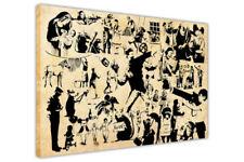 Deko-Bilder mit Graffiti im Art Deco-Stil