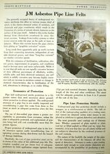 JOHNS-MANVILLE Pipe Line Wrapping ASBESTOS Felts 1943
