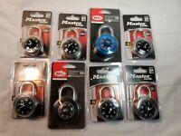 Master Lock 1500D & bell armory 100 Combination Lock Lot Of 8 storage locker (aq
