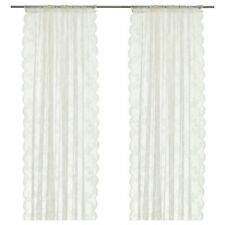 1 Pair Ikea White ALVINE SPETS Sheer Lace Net Curtains 145 x 250cm Each Curtain