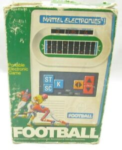 1977 Mattel Football Game W/ Instructions & Box Not Working Parts Or Repair -N7