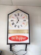 Vintage Dr. Pepper light up sign and clock